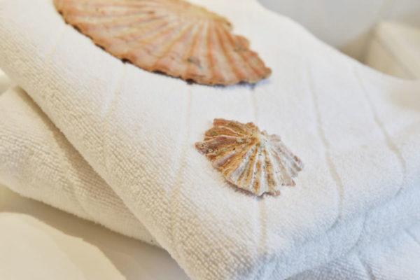 Handtücher der Fewo im Pferdehof von den Störtebeker Appartements in Ralswiek auf Rügen