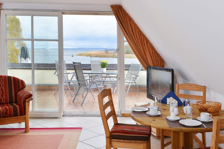 Störtebeker Appartements im Haus Riff direkt am Jasmunder Bodden in Ralswiek auf der Insel Rügen