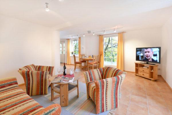 Ferienwohnungen der Störtebeker Appartements im Haus Burgwall in der Stadt Bergen auf Rügen